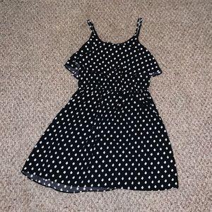 Elle Dresses - Black and White Polka Dot Dress